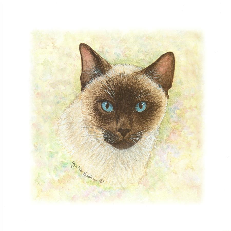 Square Card - Siamese Cat